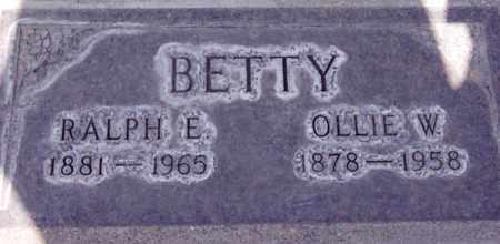 BETTY, RALPH E. - Sutter County, California   RALPH E. BETTY - California Gravestone Photos