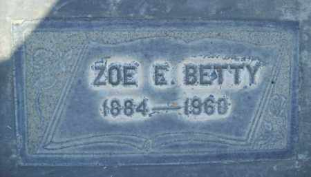 BETTY, ZOE EDITH - Sutter County, California | ZOE EDITH BETTY - California Gravestone Photos