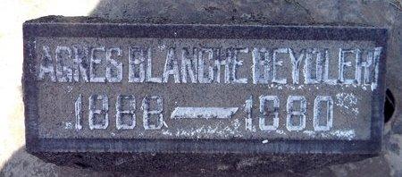 BEYDLER, AGNES BLANCHE - Sutter County, California | AGNES BLANCHE BEYDLER - California Gravestone Photos