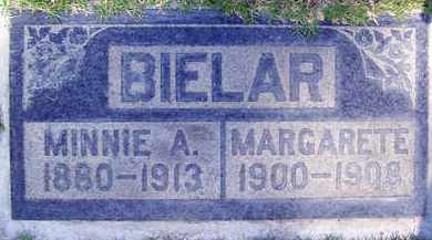 BIELAR, MINNIE A. - Sutter County, California | MINNIE A. BIELAR - California Gravestone Photos