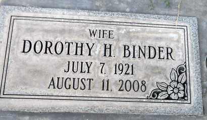 BINDER, DOROTHY H. - Sutter County, California | DOROTHY H. BINDER - California Gravestone Photos