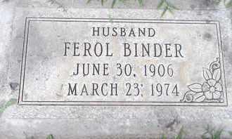BINDER, MAX FEROL - Sutter County, California | MAX FEROL BINDER - California Gravestone Photos