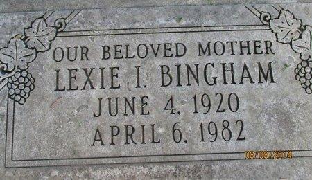 BINGHAM, LEXIE IRENE - Sutter County, California   LEXIE IRENE BINGHAM - California Gravestone Photos