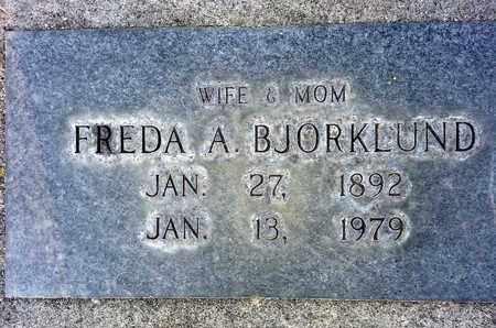 BJORKLUND, FREDA A. - Sutter County, California | FREDA A. BJORKLUND - California Gravestone Photos
