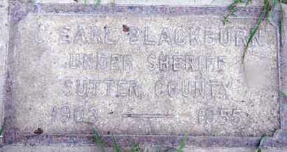 BLACKBURN, CHARLES EARL - Sutter County, California   CHARLES EARL BLACKBURN - California Gravestone Photos
