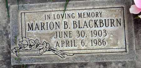 BLACKBURN, MARION B. - Sutter County, California | MARION B. BLACKBURN - California Gravestone Photos