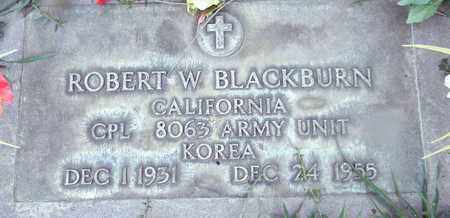 BLACKBURN, ROBERT W. - Sutter County, California   ROBERT W. BLACKBURN - California Gravestone Photos