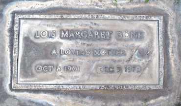 BONE, LOIS MARGARET - Sutter County, California | LOIS MARGARET BONE - California Gravestone Photos