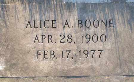 BOONE, ALICE A. - Sutter County, California   ALICE A. BOONE - California Gravestone Photos