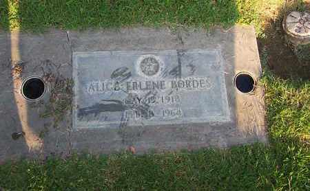 BORDES, ALICE ERLENE - Sutter County, California | ALICE ERLENE BORDES - California Gravestone Photos