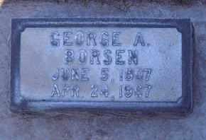BORSEN, GEORGE ARTHUR - Sutter County, California | GEORGE ARTHUR BORSEN - California Gravestone Photos