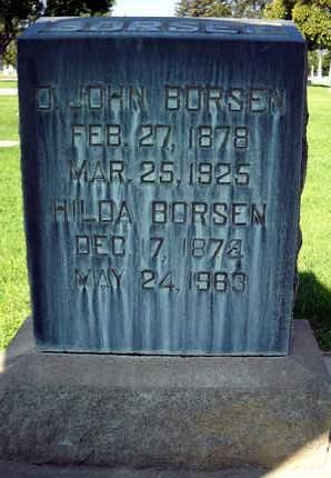 BORSEN, HILDA - Sutter County, California   HILDA BORSEN - California Gravestone Photos