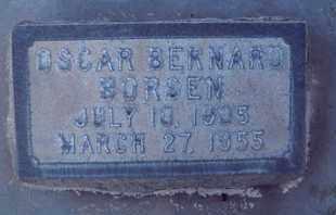 BORSEN, OSCAR BERNARD - Sutter County, California   OSCAR BERNARD BORSEN - California Gravestone Photos
