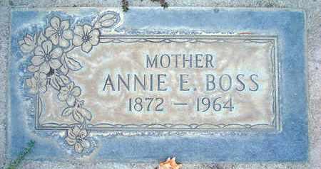 BOSS, ANNIE E. - Sutter County, California   ANNIE E. BOSS - California Gravestone Photos