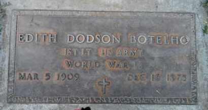 BOTELHO, EDITH DODSON - Sutter County, California | EDITH DODSON BOTELHO - California Gravestone Photos