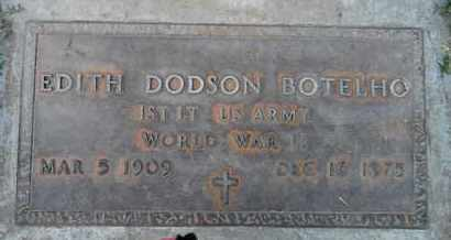 BOTELHO, EDITH DODSON - Sutter County, California | EDITH DODSON BOTELHO - California Gravestone Photos