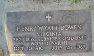 BOWEN, HENRY WYATT - Sutter County, California | HENRY WYATT BOWEN - California Gravestone Photos