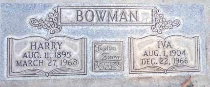 BOWMAN, IVA - Sutter County, California   IVA BOWMAN - California Gravestone Photos