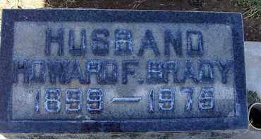 BRADY, HOWARD F. - Sutter County, California   HOWARD F. BRADY - California Gravestone Photos