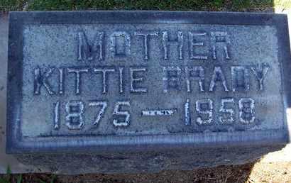 BRADY, KITTIE - Sutter County, California | KITTIE BRADY - California Gravestone Photos