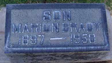BRADY, MARION RAY - Sutter County, California   MARION RAY BRADY - California Gravestone Photos
