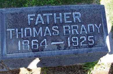 BRADY, THOMAS - Sutter County, California | THOMAS BRADY - California Gravestone Photos