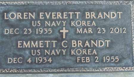 BRANDT, LOREN EVERETT - Sutter County, California   LOREN EVERETT BRANDT - California Gravestone Photos