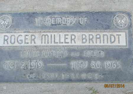 BRANDT, ROGER MILLER - Sutter County, California | ROGER MILLER BRANDT - California Gravestone Photos