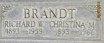 BRANDT, CHRISTINA MILLER - Sutter County, California | CHRISTINA MILLER BRANDT - California Gravestone Photos