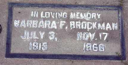 BROCKMAN, BARBARA FAYE - Sutter County, California | BARBARA FAYE BROCKMAN - California Gravestone Photos