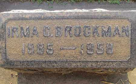 BROCKMAN, IRMA CLARE - Sutter County, California   IRMA CLARE BROCKMAN - California Gravestone Photos