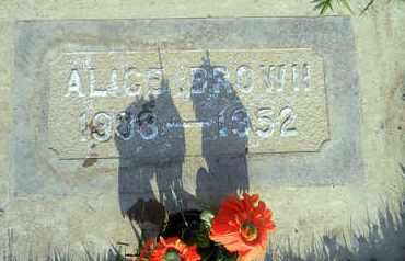 BROWN, ALICE - Sutter County, California | ALICE BROWN - California Gravestone Photos
