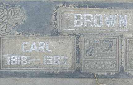 BROWN, EARL - Sutter County, California   EARL BROWN - California Gravestone Photos