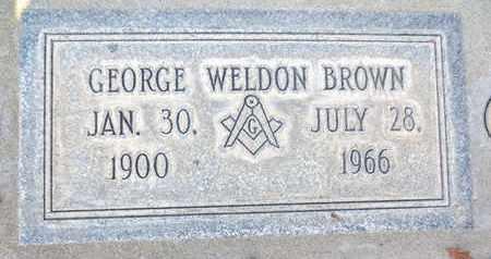 BROWN, GEORGE WELDON - Sutter County, California | GEORGE WELDON BROWN - California Gravestone Photos