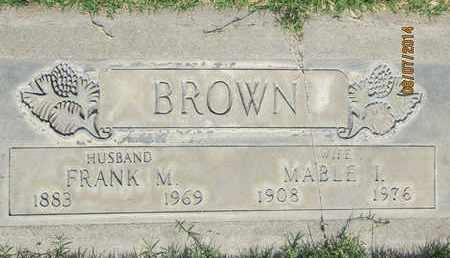 BROWN, FRANK M. - Sutter County, California | FRANK M. BROWN - California Gravestone Photos