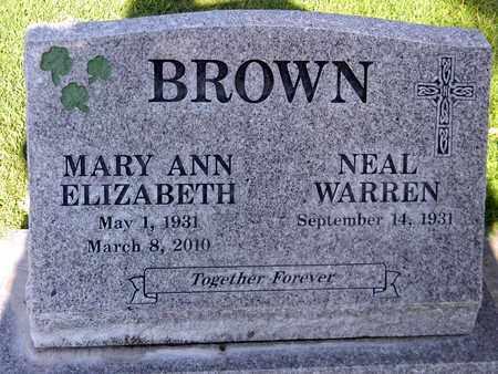 BROWN, NEAL WARREN - Sutter County, California   NEAL WARREN BROWN - California Gravestone Photos