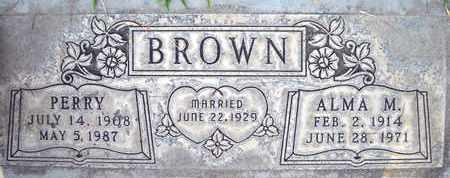 BROWN, PERRY - Sutter County, California | PERRY BROWN - California Gravestone Photos