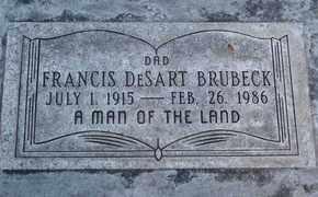 BRUBECK, FRANCIS DESART - Sutter County, California   FRANCIS DESART BRUBECK - California Gravestone Photos