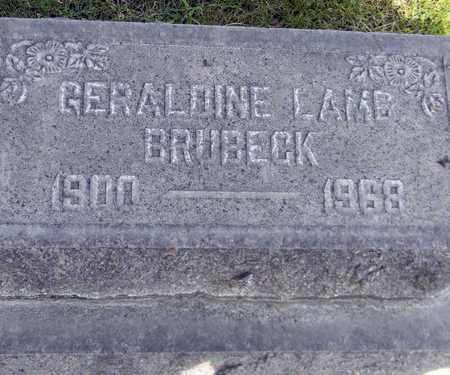 BRUBECK, GERALDINE LAMB - Sutter County, California   GERALDINE LAMB BRUBECK - California Gravestone Photos