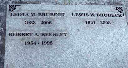 BRUBECK, LEWIS WARREN - Sutter County, California | LEWIS WARREN BRUBECK - California Gravestone Photos