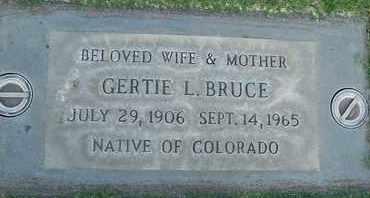 BRUCE, GERTIE LEOAN - Sutter County, California   GERTIE LEOAN BRUCE - California Gravestone Photos