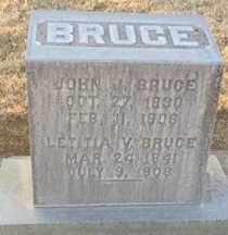 BRUCE, LETITIA VIRGINIA - Sutter County, California | LETITIA VIRGINIA BRUCE - California Gravestone Photos