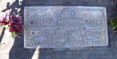 BYERS, WALTER EDWARD - Sutter County, California | WALTER EDWARD BYERS - California Gravestone Photos