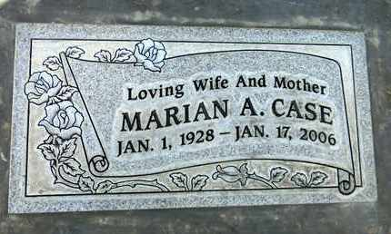 CASE, MARIAN ADELE - Sutter County, California | MARIAN ADELE CASE - California Gravestone Photos