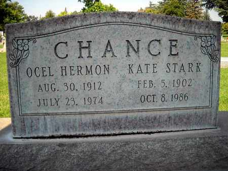 CHANCE, OCEL HERMON - Sutter County, California   OCEL HERMON CHANCE - California Gravestone Photos