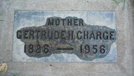 CHARGE, GERTRUDE H. - Sutter County, California | GERTRUDE H. CHARGE - California Gravestone Photos