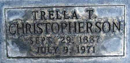 CHRISOPHERSON, TRELLA T. - Sutter County, California | TRELLA T. CHRISOPHERSON - California Gravestone Photos