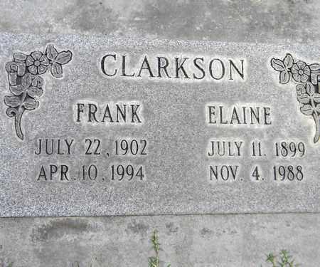 CLARKSON, ELAINE - Sutter County, California   ELAINE CLARKSON - California Gravestone Photos