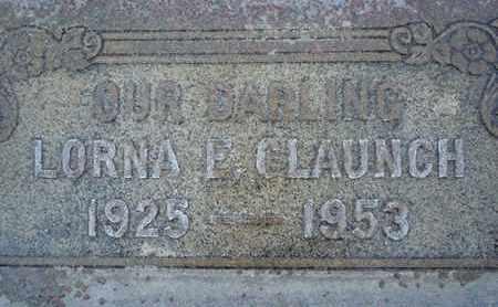 CLAUNCH, LORNA LIZA - Sutter County, California | LORNA LIZA CLAUNCH - California Gravestone Photos