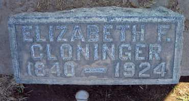 CLONINGER, ELIZABETH F. - Sutter County, California | ELIZABETH F. CLONINGER - California Gravestone Photos